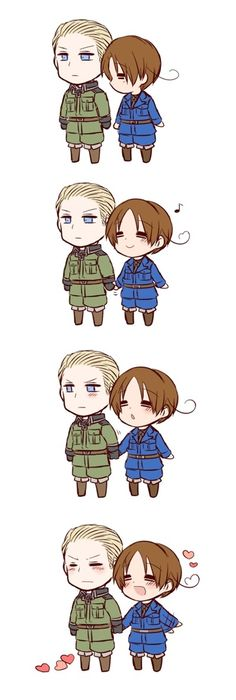 Chibi Italy and Germany, | Hetalia