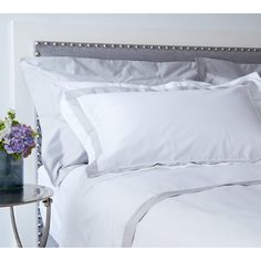 Milano Grey Trim Bed Linen from The French Bedroom Company. Soft, smooth and…
