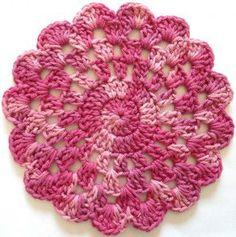#297 Rose In Bloom Crochet Dishcloth – Maggie Weldon Maggies Crochet