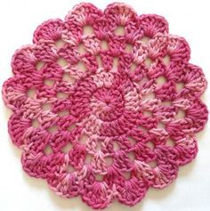 #297 Rose In Bloom Crochet Dishcloth – Maggie Weldon Maggies Crochet