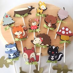 Hey, I found this really awesome Etsy listing at https://www.etsy.com/listing/249810388/woodland-cupcake-toppers-set-of-12