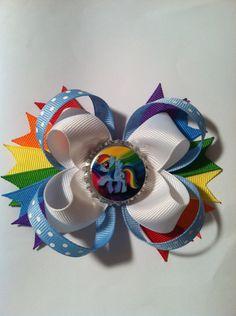 Loopy Rainbow Dash My Little Pony Bow by MichelesBowtique on Etsy @stephanie Murdock