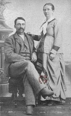 Circa 1876-1878 pregnant woman and her husband.