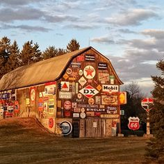 """365 Likes, 73 Comments - Judy Masrud - NW Wisconsin (@cranberrymorning) on Instagram: """"Americana Sign Language. This barn is just outside Wausau, Wisconsin. I wonder how many times it…"""""""