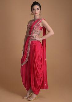 Indian Gowns Dresses, Indian Fashion Dresses, Indian Outfits, Saree Fashion, Fashion Outfits, Dhoti Saree, Saree Dress, Sari, Salwar Kameez