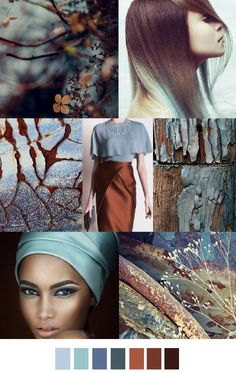 TRENDS // PATTERN CURATOR . PRINT, PATTERN COLOR - AUTUMN BLUES/CINNAMON CHAI