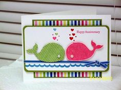 Oh, Whale! Anniversary by D. Daisy - Cards and Paper Crafts at Splitcoaststampers