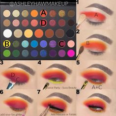 James Charles Palette Makeup Tutorial by Ashley Haw! I love this look at sunset Creative Eye Makeup, Colorful Eye Makeup, Blue Eye Makeup, Skin Makeup, Makeup Kit, Colorful Eyeshadow, Makeup Geek, Makeup Morphe, Makeup Cosmetics