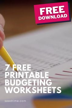 I believe that budgeting should be fun and if done properly, it really makes your life a whole lot more peaceful. And, I want your life to be more peaceful. Start a budget today with these 7 Free Printable Budgeting Worksheets! #budgetingforbeginners #freebudgetingworksheets #budgetingworksheets #budgetingtips #howtobudget #seedtime Budget Chart, Budget Spreadsheet, Budget Binder, Printable Budget Worksheet, Budgeting Worksheets, Free Printables, Financial Tips, Financial Planning, Debt Snowball Worksheet