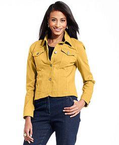 Charter Club Jacket, Colored Denim - - Macys