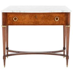 French Art Deco Console Table with Drawer, circa 1930