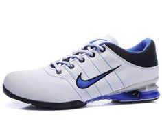 reputable site 7a266 ab6cc Chaussures Nike Shox R2 Blanc  Noir  Bleu  Argent  nike 12151  - €