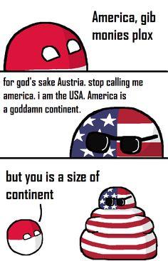 America vs the USA (USA, Poland) by palball #polandball #countryball