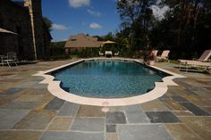 Picture perfect in ground pool in central PA, Goodall Pools & Spas Camp Hill, In Ground Pools, Carlisle, Spas, Swimming, Outdoor Decor, Pictures, Swim, Photos