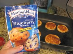 EatYourHeartOut: Muffin Mix Pancakes--so so easy and yummy!!