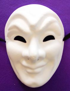 Plain Masks To Decorate The Paper Mache Half Mask Is A Great Arts And Craft Maskthis 12