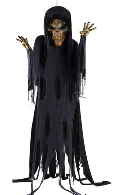Hanging Evil Skeleton Reaper 12ft - Party City