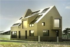 contemporary pitched roof architecture - Google Search
