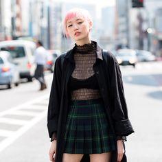 "964 Likes, 4 Comments - Fashion Press (@fashionpressjp) on Instagram: ""Today's snap . Fernanda Ly(@warukatta) . wearing #coat #vintage #blouse #bubbles #skirt…"""