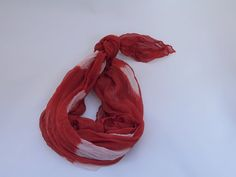 Ionne SCARF  Ochre  Square Silk by TheLinenLab on Etsy