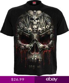 2b040cef SPIRAL DIRECT DEATH BONES T Shirt DeathMetalSkullSoulsDark Deceased Tees