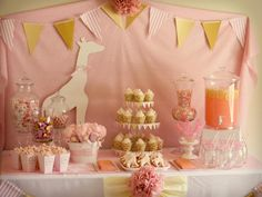 pink giraffe party! (cute baby shower or birthday party)