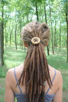 Dreadlock accessory - giant wooden hair button - hair accessories, dread…