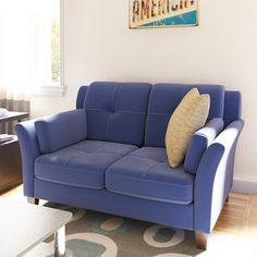 Shop for Porch & Den Bushwick St. Nicholas Contemporary Flannelette Loveseat. Get free shipping at Overstock.com - Your Online Furniture Outlet Store! Get 5% in rewards with Club O! - 18170261