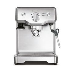 Breville Duo Temp Pro Espresso Machine, Stainless Steel.    15 bar Italian-made direct begins with low strain to blossom espresso beans, at that point step by step expands weight for extraction  Extract maybe a couple coffee shots at once; Manual control of coffee shot volume  1-and 2-container single and double divider channel bins included for use with naturally ground or pre-ground espresso beans  Steam wand for steaming and foaming milk, 61-ounce water tank capacity  Includes Razor…