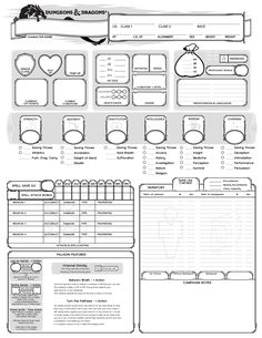 175 Best D&D Character Sheets images in 2019 | Board games