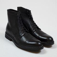 Heschung - Black anicalf Panax boot   No Man Walks Alone
