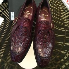 One of our last MTO's . Style 80180 in burgundy alligator. In Simpson last and Rendenbach leather soles. Hot Shoes, Men S Shoes, Gentleman Shoes, Mens Fashion Shoes, Dream Shoes, Dress With Boots, Luxury Shoes, Shoe Collection, Loafers Men