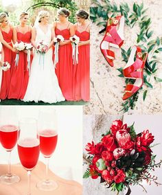 Red Fiesta with Pink  - 16 Most Refreshing and Trendy Spring Wedding Colors - EverAfterGuide