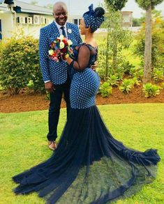 afrikanischer druck Shweshwe Traditional Wedding Dresses For South African 2019 - Pretty 4 Latest African Fashion Dresses, African Print Dresses, African Print Fashion, African Dress, African Traditional Wedding Dress, Traditional Wedding Attire, Traditional Outfits, African Wedding Attire, African Attire