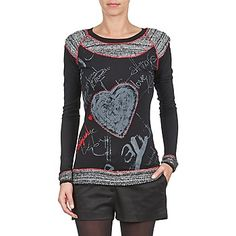 Loving this Black & Red Chalkboard Long-Sleeve Top on Sports Mom, Moda Online, Christmas Sweaters, Long Sleeve Tops, Graphic Sweatshirt, T Shirts For Women, Collection, Sweatshirts, Blouse