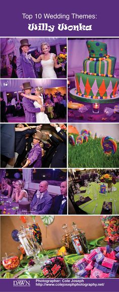 Top Unique Wedding Themes: Willy Wonka Inspired