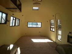 1958 Airstream Flying Cloud gutted interior, 22 ft