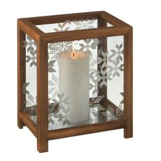 Snowflake Pillar Candle Holder