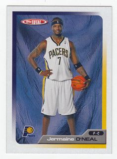 Jermaine O'Neal # 312 - 2005-06 Topps Total Basketball Basketball Cards, Basketball Teams, Jermaine O'neal, Indiana Pacers, Aba, All Star, Mint, Baseball, Sports