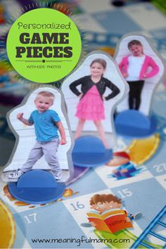 Personalized Game Markers for Kids --> SO FUNNY!