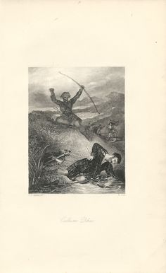"""""""Callum Dhu,"""" an 1841 engraving from The Book of Archery.  Available at http://www.uncannyartist.com/products/1841-prints-archery."""