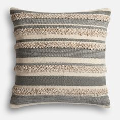 When you want a classic with a little kick. Presenting the Zander pillow from the Magnolia Home Collection by Joanna Gaines. It's the perfect combination of timeless gray and ivory stripes with a delightfully nubby texture that's at home with a variety of decorating styles.