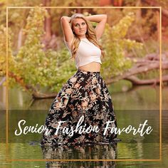 I loved this big puffy printed high waisted skirt and simple crop top! Stick Maddy in some dreamy still water and wha-la!  . . . #jamiesmithphotography  #seniorpictures  #senior #seniors  #portraitphotography  #minnesotaseniorphotographer #fashion