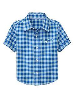 Short-sleeve gingham shirt | Gap