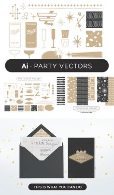 Gigantic Vector Elements Bundle  Tomodachi  Party Vectors