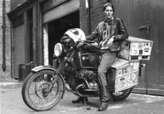 Elspeth Beard and her '74 BMW R 60/6 that she rode around the world over the course of three years.