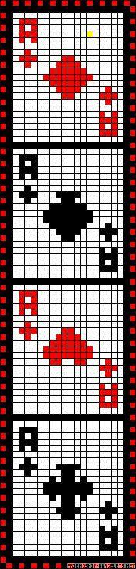 Cards perler bead pattern