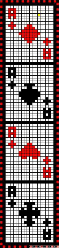 Cards perler bead pattern