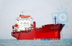 The Big Boat Of Oil Tanker Stock Photo - Royalty Free Image ID ...