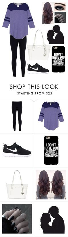 """""""Everyday we are together is the greatest day of my life."""" by blessed-with-beauty-and-rage ❤ liked on Polyvore featuring NIKE and MICHAEL Michael Kors"""